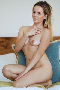 Model Susana Gil in Blanket