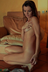 Model Brit A in Naked In Chair
